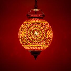 oosterse mozaïek hanglamp - diameter 25 cm-RO