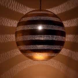 Oosterse hanglamp filigrain stijl - bal - goud/goud