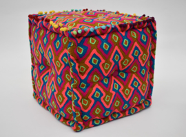 Oosterse Poef  ZIGZAG HIPPY 40CM