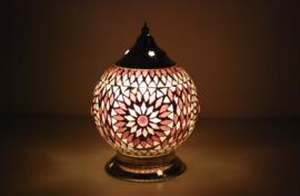 oosterse tafellamp mozaïek - diameter 15 cm-PURPLE-TD