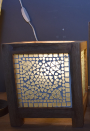 Oosterse taffellamp kubus-20cm