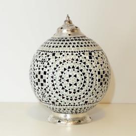 oosterse tafellamp mozaïek - diameter 25 cm-B&W