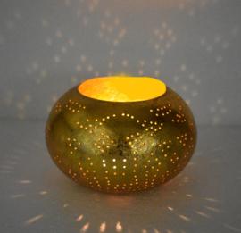 oosterse waxinehouder filigrain - ufo-vintage -goud/goud