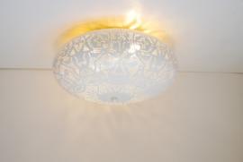 oosterse plafonnière filigrain 25 cm - wit / vintage goud