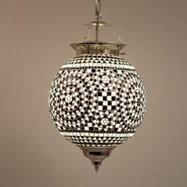 oosterse mozaïek hanglamp - diameter 25 cm-B&W
