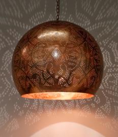 Oosterse hanglamp filigrain stijl - open XL - vintage koper