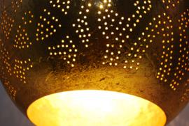 Oosterse hanglamp druppel - filigrain stijl - goud/goud