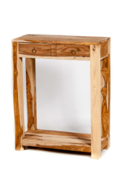 oosterse side table met lades - unfinished