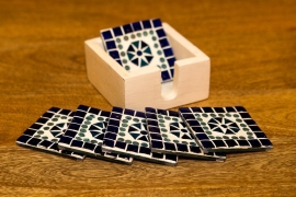 Oriental mosaic coasters