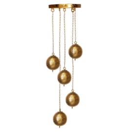 Oosterse 5 bol  hanglamp filigrain stijl-goud-goud