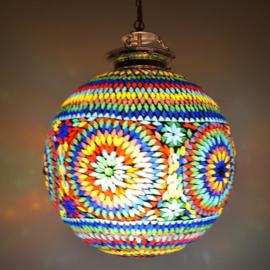 oosterse mozaïek hanglamp - diameter 40 cm.