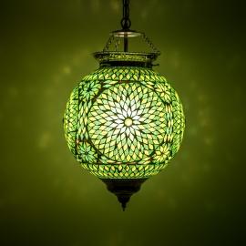 oosterse mozaïek hanglamp - diameter 25 cm-GREEN-TD