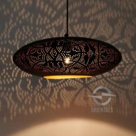 Oosterse hanglamp filigrain stijl - ufo - zwart/goud