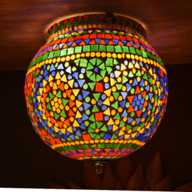 oosterse mozaïek plafonniere -diameter25 cm-Lamp-Bathroom-MC