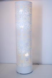 oosterse vloerlamp filigrain 60 cm - vintage wit/ goud
