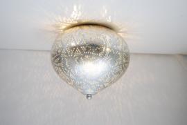 oosterse filigrain plafonniere  - onion-vintage/silver