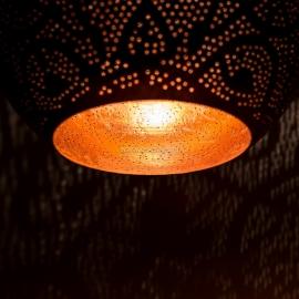 Oosterse hanglamp druppel - filigrain stijl - vintage koper