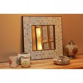 spiegel met mozaïek frame