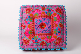 Oriental floor cushion - 'IBI' Pink