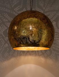 Oosterse hanglamp filigrain stijl - open XL - vintage goud