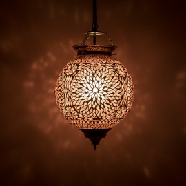 oosterse mozaïek hanglamp - diameter 25 cm-PURPLE-TD