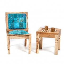 Oosterse lounge stoel met patchwork bekleding