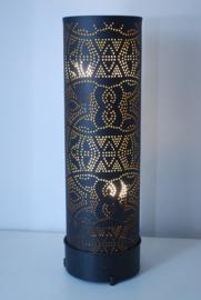 Oosterse vloerlamp filigrain 100 cm - vintage  zwart/goud