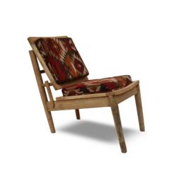 Oosterse lounge stoel met kelim bekleding