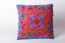 Oriental cushion - 'IBI' Pink (40 x 40cm)