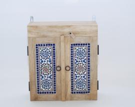 oosters badkamerkastje met mozaïek panelen transparant