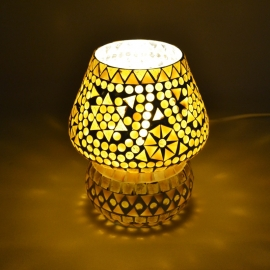 oosterse tafellamp mozaïek - paddenstoel-B/B