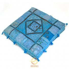 Oriental floor cushion - patchwork