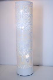 Oosterse vloerlamp filigrain 100 cm - vintage wit/goud