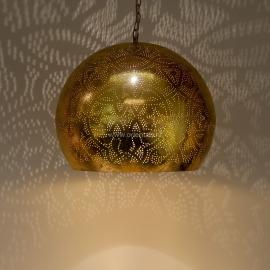 oosterse hanglamp filigrain stijl - open - vintage goud