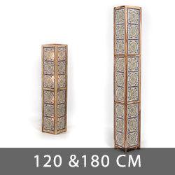 vloerlampen 120 en 180 centimeter mozaïek