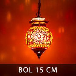 hanglamp bol met een diameter van 15 centimeter