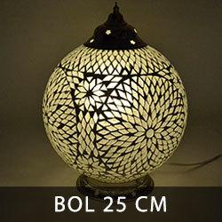 LM25 orentiaalse tafellamp bol met glasmozaïek