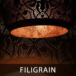 hanglampen met filigrain effect