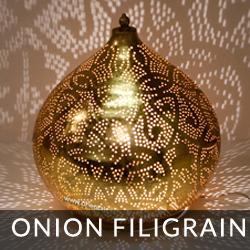 filigrain style tafellamp onion
