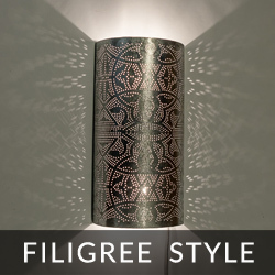 oriental wall lamp filigree style