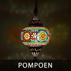 hanglamp pompoen met mozaiek