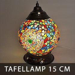 LM15 oosterse tafellamp bol met glasmozaïek