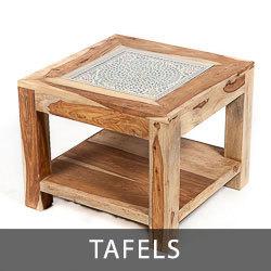 massief houten tafels van sheesam of mango hout