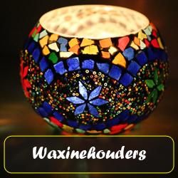 sfeervolle oosterse waxinehouders in vele kleuren en dessins
