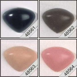 Dieren neus 8mm: Zwart ,Bruin, Huidskleur, Roze