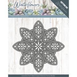 Winter flowers: Floral snowflake