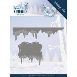 Amy Design - Winter Friends - Ice Border