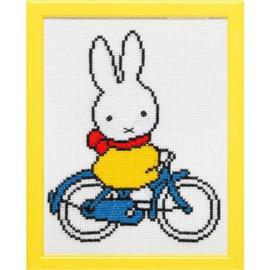 Borduurpakket: Nijntje op de fiets