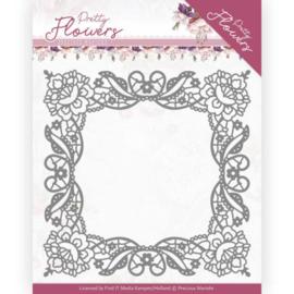Marieke Design: Pretty Flowers Die: Lace Frame