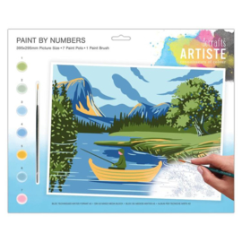 Painting By numbers A3: Lakes & Mountains